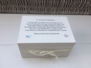 Shabby Personalised Chic Gift Sister Bridesmaid Or Maid / Matron Of Honour